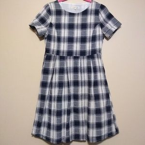 Orange Creek fit and flare plaid dress size small